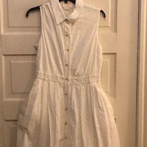 White Kate Spade Shirt Dress
